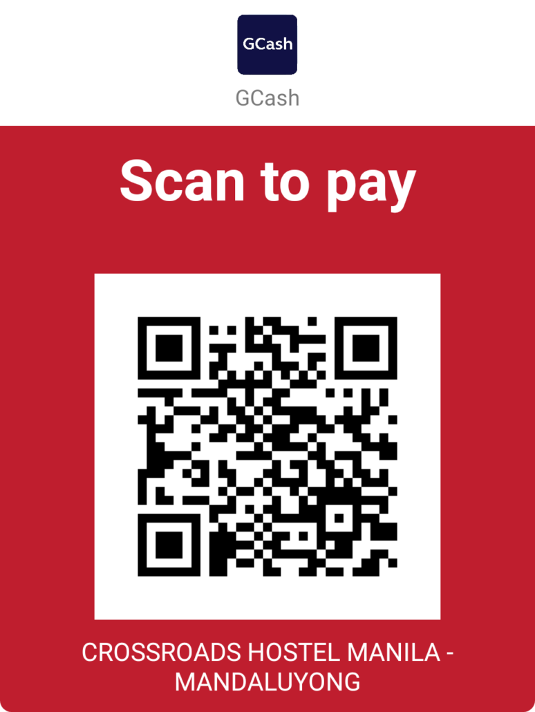 Crossroads Hostel GCash QR Code